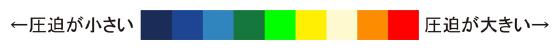 一般的な敷き布団との体圧分散の違い-図界