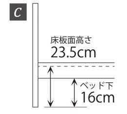 3段階に高さ調節可能C