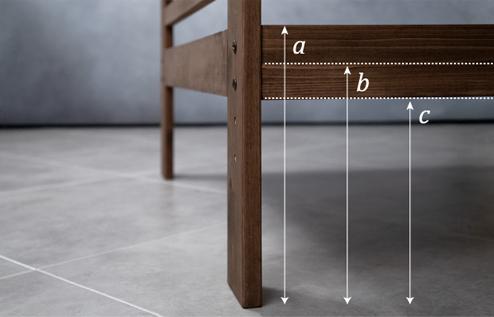 3段階に高さ調節可能